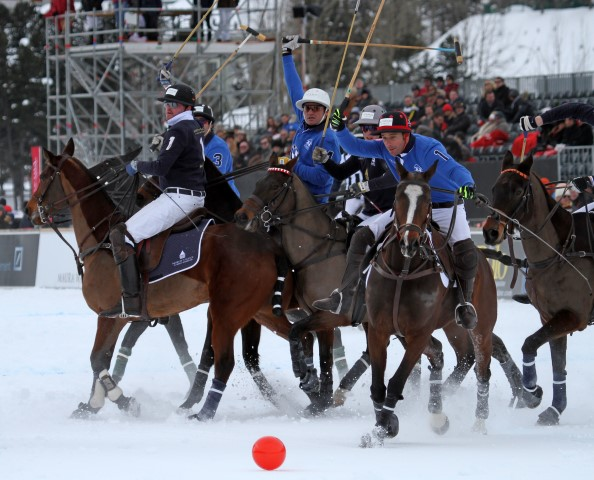 Snow Slows Down 2015 St Moritz Snow Polo Construction