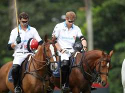 A Moments Silence and Prince Harry takes to the polo field 2017 Sentebale Royal Salute Polo Cup  Singapore