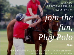 Introductory Polo Clinic Sept 23!