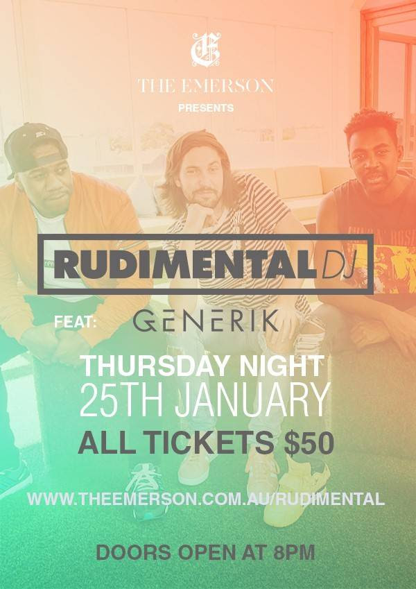 The Emerson invites you to The Rudimental\'s tonight, and the ...